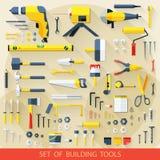 Satz Gebäudewerkzeuge stock abbildung