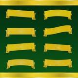 Satz gelbe Bänder auf grünem Hintergrund Lizenzfreie Stockfotografie