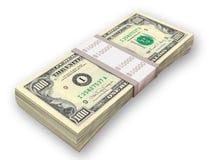 Satz Geld Stockfoto