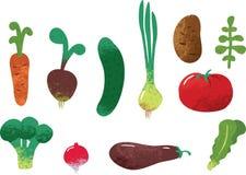 Satz Gemüse Lizenzfreies Stockfoto