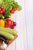Satz Gemüse auf einem hellen Hintergrundhintergrund Lizenzfreies Stockbild
