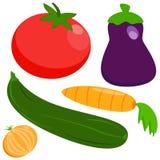 Satz: Gemüse auf einem weißen Hintergrund Lizenzfreie Stockfotografie