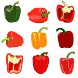 Satz Gemüsepaprika. Stockfotografie