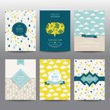 Satz geometrische Broschüren und Karten Stockbild