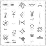 Satz geometrische Hippie-Formen 9711 Lizenzfreies Stockfoto