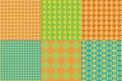 Satz geometrische Muster Lizenzfreies Stockbild