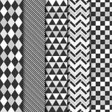 Satz geometrische nahtlose Muster des Vektors Lizenzfreies Stockfoto