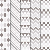 Satz geometrische nahtlose Muster des Vektors Lizenzfreies Stockbild