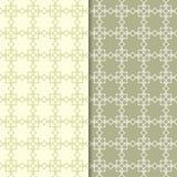 Satz geometrische Verzierungen Nahtlose Muster des Olivgrüns Lizenzfreies Stockfoto