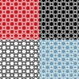 Satz geometrische Verzierungen - nahtlose Muster - T Lizenzfreies Stockfoto