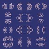 Satz geometrische Zeichen und Rahmen Stockfotos