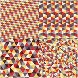 Satz geometrischen Musters vier Beschaffenheit mit Dreiecken, Rauten MO Stockfotografie