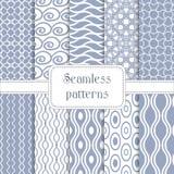 Satz geometrischen nahtlosen Musters 10 Lizenzfreie Stockbilder