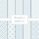 Satz geometrischen nahtlosen Musters 10 Lizenzfreie Stockfotos