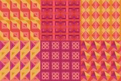Satz geometrischer Musterfrage 2 Stockfotos