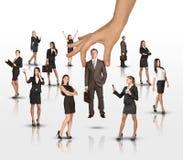 Satz Geschäftsleute mit dem enormen Arm Stockbild