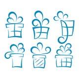 Satz Geschenkboxen Lizenzfreies Stockfoto