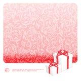 Satz Geschenke, flache Vektor-Illustration Stockfoto