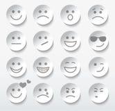 Satz Gesichter mit verschiedenen Gefühlausdrücken. Lizenzfreie Stockfotografie