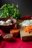 Satz gesundes Lebensmittel für das Kochen lizenzfreies stockbild