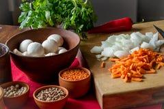 Satz gesundes Lebensmittel für das Kochen lizenzfreie stockbilder