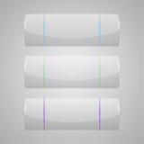 Satz glänzende Fahnen mit glatter Oberfläche Lizenzfreie Stockbilder