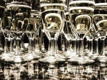 Satz Gläser Champagner Stockbilder