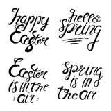 Satz glückliche Ostern-Beschriftung Ausweis und Karte für Feier e Stockbilder