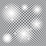 Satz glühende Licht-Sterne mit Schein-Vektor Stockbild