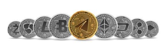 Satz Gold und silberne Schlüsselwährungen Lizenzfreies Stockfoto
