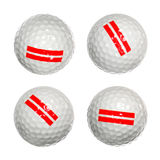 Satz Golfbälle Lizenzfreie Stockfotos