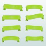 Satz grüne Vektorbänder Stockbild