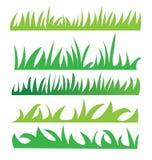Satz grünes Gras Stockfotografie