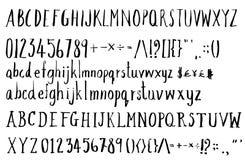Satz Gussbürstenillustration der Hand gezeichneten Skizzenlinie ENV Stockbild