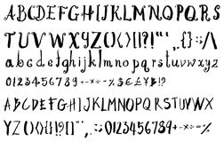 Satz Gussbürstenillustration der Hand gezeichneten Skizzenlinie ENV Stockfoto