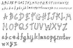 Satz Gussbürstenillustration der Hand gezeichneten Skizzenlinie Vektor ENV Stockfotografie