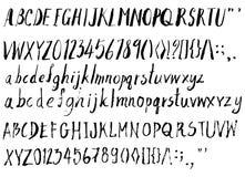 Satz Gussbürstenillustration der Hand gezeichneten Skizzenlinie Vektor ENV Lizenzfreie Stockfotos