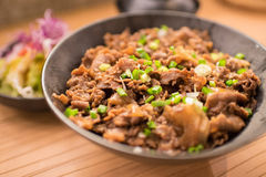 Satz gyudon: japanisches Lebensmittel Stockfotos