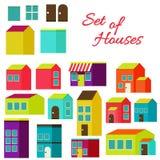 Satz Häuser Lizenzfreie Stockfotos