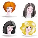 Satz hairdresses lizenzfreies stockfoto