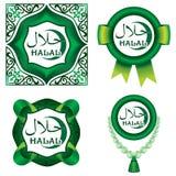 Satz Halal Zeichen stockfotos