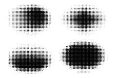 Satz Halbton punktiert Vektorovalformen Zusammenfassung punktiert, Formen punktierend Einfarbiger Halbtonsteigungsformsatz lizenzfreie abbildung