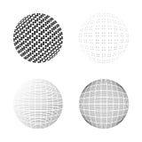 Satz Halbtonkreise lokalisiert auf dem weißen Hintergrund collect stock abbildung