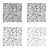 Satz Halbtonquadrate lokalisiert auf dem weißen Hintergrund Sammlung Halbtoneffekt umgewandelte Punktmuster Rechteck illust Stockbilder