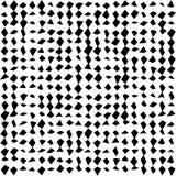 Satz Halbtonquadrate lokalisiert auf dem weißen Hintergrund Sammlung Halbtoneffekt umgewandelte Punktmuster Rechteck illustra Stockfoto