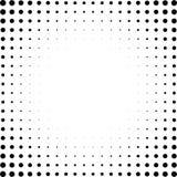 Satz Halbtonquadrate lokalisiert auf dem weißen Hintergrund Sammlung Halbtoneffektpunktmuster Schwarze Illustration des Rechtecks Lizenzfreie Stockfotografie