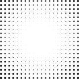 Satz Halbtonquadrate lokalisiert auf dem weißen Hintergrund Sammlung Halbtoneffektpunktmuster Schwarze Illustration des Rechtecks Lizenzfreies Stockbild