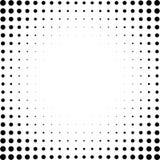 Satz Halbtonquadrate lokalisiert auf dem weißen Hintergrund Sammlung Halbtoneffektpunktmuster Schwarze Illustration des Rechtecks Stockfoto
