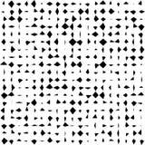 Satz Halbtonquadrate lokalisiert auf weißem Hintergrund Sammlung Halbtoneffekt umgewandelte Punktmuster Rechteck illustra Stockfotografie