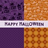 Satz Halloween-Hintergründe Lizenzfreies Stockbild
